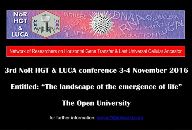 3rd NoR HGT & LUCA (2016) – Open University