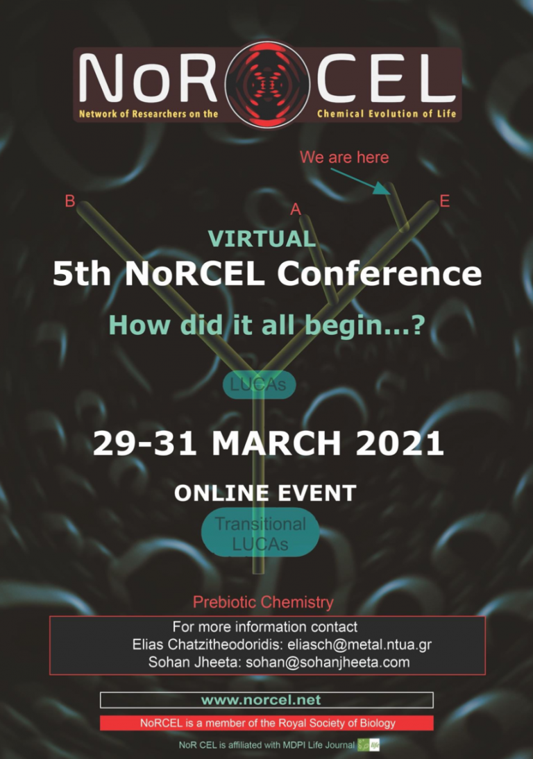 """5th NoRCEL Network Conference """"How did all begin … ?"""" (Virtual Event)"""